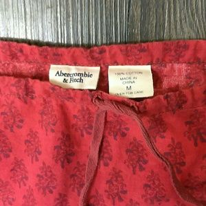 Abercrombie & Fitch Skirts - Red Abercrombie & fitch cotton knee length skirt